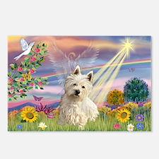 Cloud Angel & Westie Postcards (Package of 8)