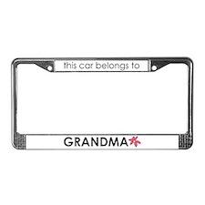 Grandma's License Plate Frame