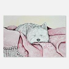 Snoozing Westie Postcards (Package of 8)
