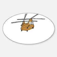CH-47 Tan Oval Decal