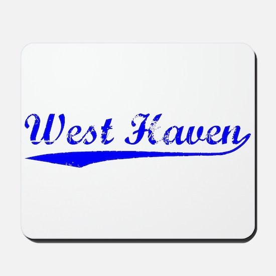 Vintage West Haven (Blue) Mousepad