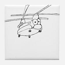 CH-47 BW Tile Coaster