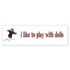Voodo Doll Bumper Bumper Sticker
