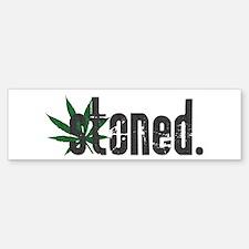 Vintage Stoned (Green Pot Leaf) Bumper Bumper Bumper Sticker