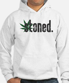 Vintage Stoned (Green Pot Leaf) Jumper Hoody