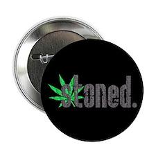 "Vintage Stoned (Green Pot Leaf) 2.25"" Button (100"