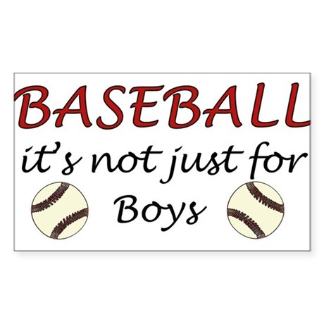 Not just for boys Rectangle Sticker
