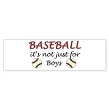 Not just for boys Bumper Bumper Sticker