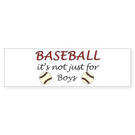 Not just for boys Bumper Sticker