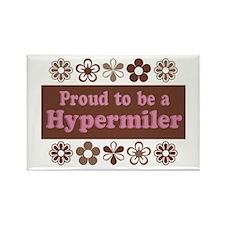 Proud Hypermiler brown Rectangle Magnet