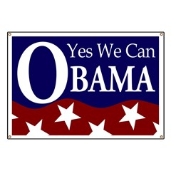 Barack Obama Yes We Can Banner