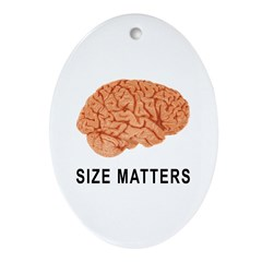 Size Matters Oval Ornament