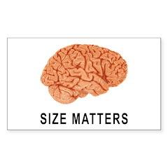 Size Matters Rectangle Sticker 10 pk)