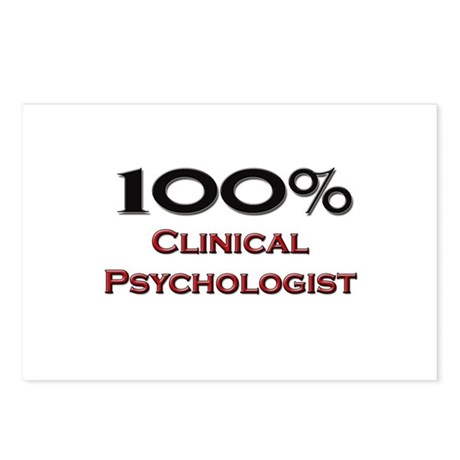100 Percent Clinical Psychologist Postcards (Packa