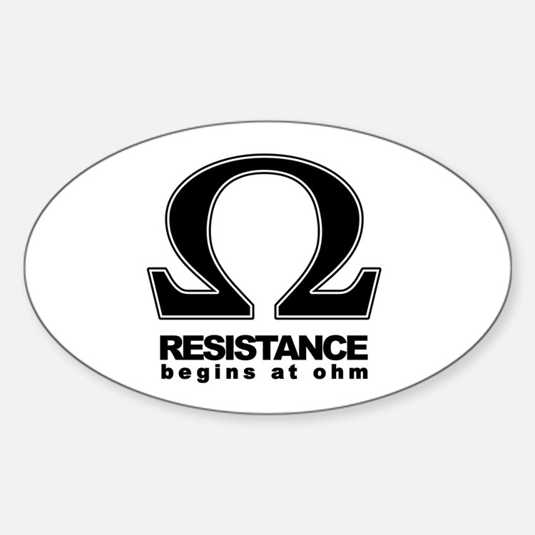Ohm Oval Decal