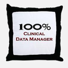 100 Percent Clinical Data Manager Throw Pillow