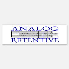 ANALOG RETENTIVE Bumper Bumper Bumper Sticker