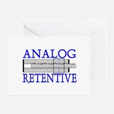 ANALOG RETENTIVE Greeting Card