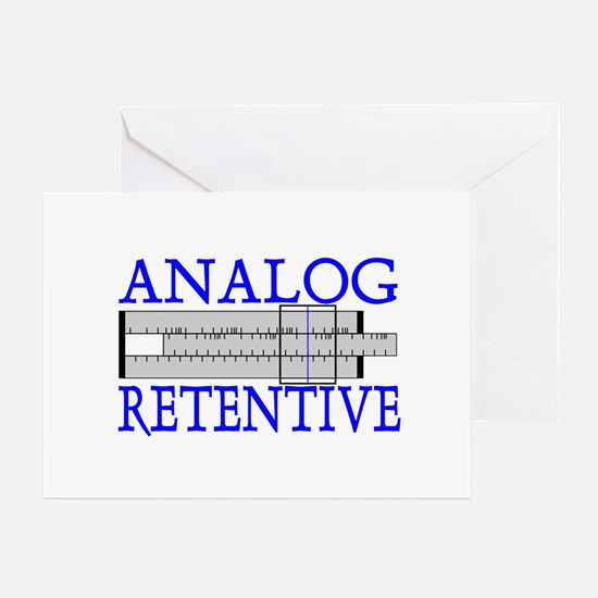 ANALOG RETENTIVE Greeting Card