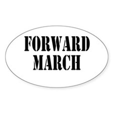 The Official Forward March Oval Decal