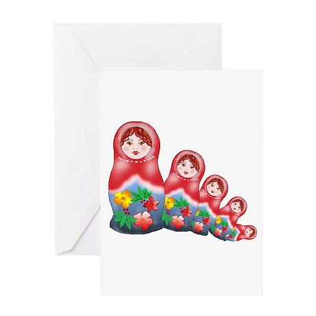 Springtime Nesting Doll Greeting Card