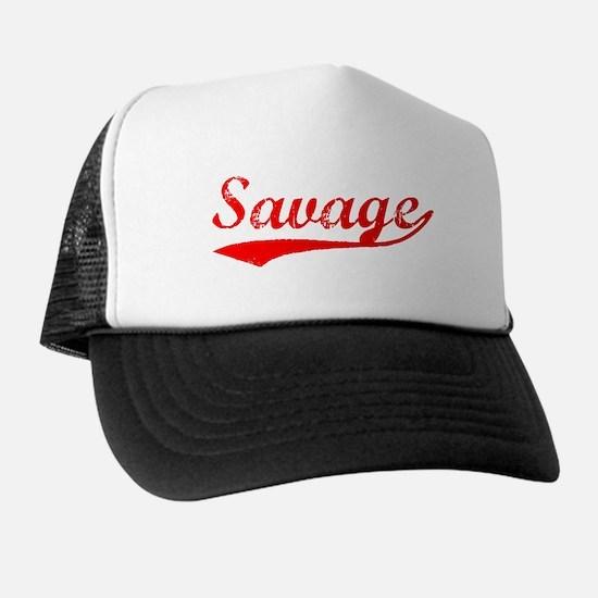 Vintage Savage (Red) Cap