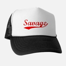 Vintage Savage (Red) Trucker Hat