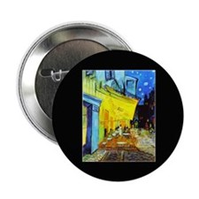 "Van Gogh Cafe Terrace At Night 2.25"" Button"