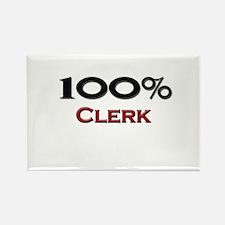100 Percent Clerk Rectangle Magnet (10 pack)