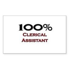 100 Percent Clerical Assistant Rectangle Decal