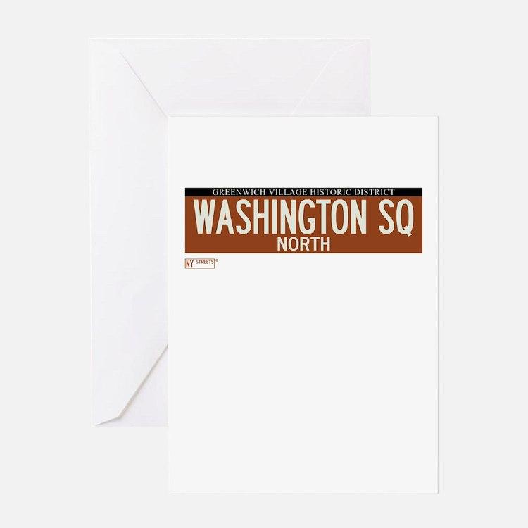Washington Square North in NY Greeting Card