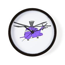 CH-53 Purple Wall Clock