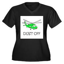 UH-60Q Women's Plus Size V-Neck Dark T-Shirt
