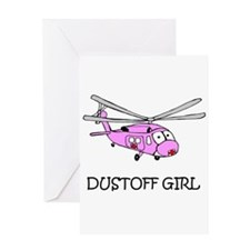 Dust Off Girl Greeting Card