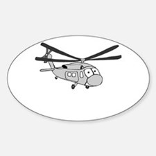 HH-60 Gray Oval Decal