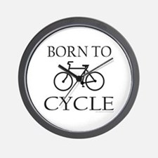 BORN TO CYCLE Wall Clock