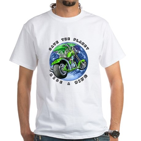 SAVE THE PLANET Ride a Bike White T-Shirt