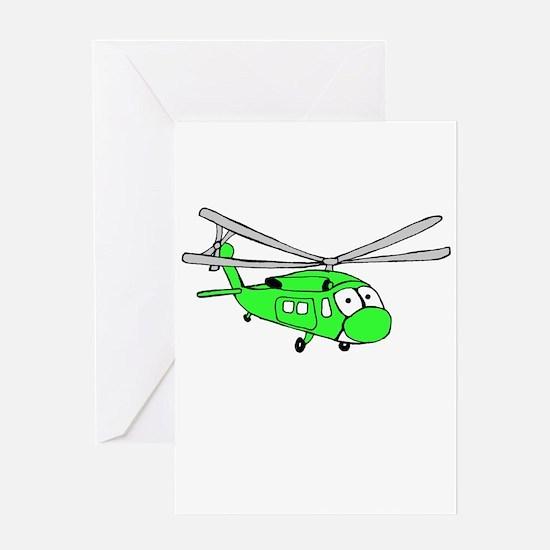 UH-60 Green Greeting Card