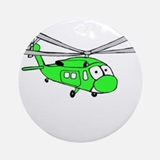UH-60 Green Ornament (Round)