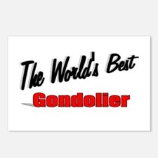 """""""The World's Best Gondolier"""" Postcards (Package of"""