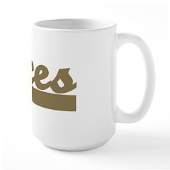 Retro Pisces Large Mug