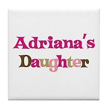 Adriana's Daughter Tile Coaster
