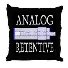 ANALOG RETENTIVE Throw Pillow