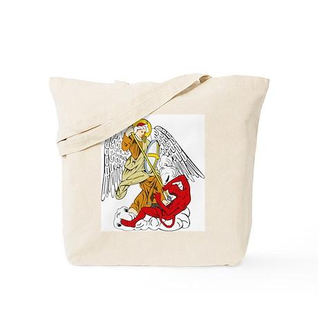 St. Michael and Satan Tote Bag