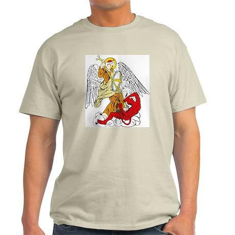 St. Michael and Satan Ash Grey T-Shirt