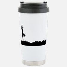 Tree Asana Silhouette B Stainless Steel Travel Mug
