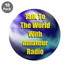 """Talk To The World 3.5"""" Button (10 pack)"""
