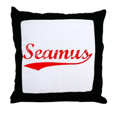 Vintage Seamus (Red) Throw Pillow
