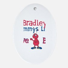 Bradley - Mommy's Love Bug Oval Ornament