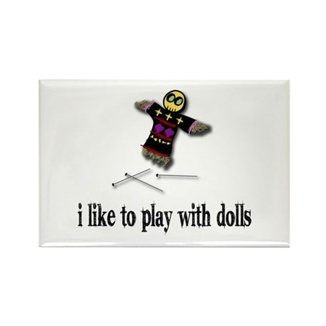 Voodoo Doll Rectangle Magnet